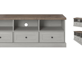 TV Cabinet Table model in colonial style with 3D asset 1