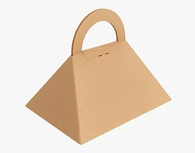 Carrying pyramid cardboard box 3D