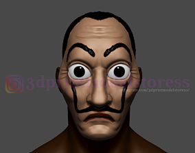 3D printable model Dali Mask Salvador Lacasa de papel 5