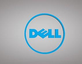 low-poly Dell Logo 3D Model