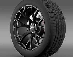 3D model Dodge Challenger Supercharged wheel