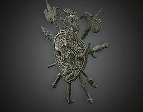 3D asset MVL - Coat of Arms - PBR Game Ready