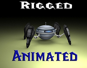 3D asset animated realtime Spiderbot