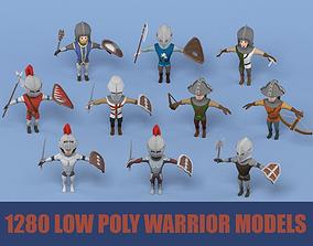 Medieval warrior pack 3D asset