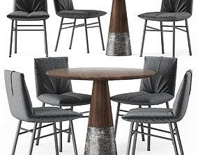 Chair Bonaldo PIL and Table ENNE ECHO 3D