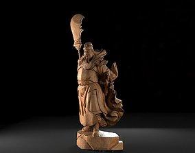 3D printable model Guan Yu Woodcarving