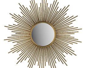 Decorative mirror Sun Soledad 3D model