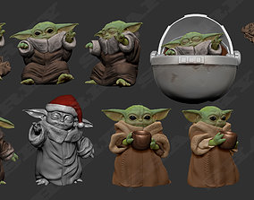 baby yoda force 3D printable model