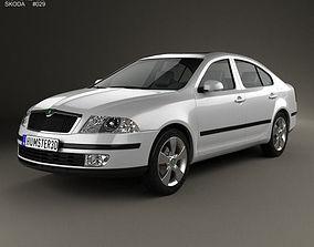 3D model Skoda Octavia liftback 2005