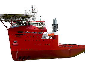ship 3D Offshore Carrier RED hquality