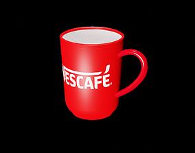 Ceramic Coffee mug with Nescafe logo 3D model