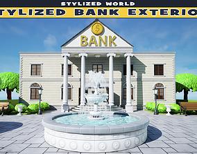 3D model Stylized Bank Exterior