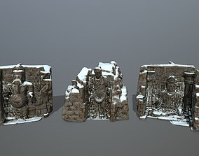 buda temple 3D asset
