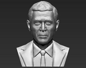 President George W Bush bust 3D printing ready stl obj