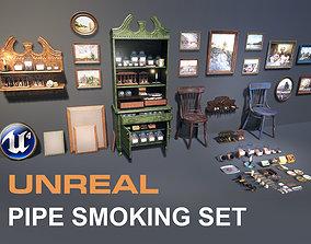UE4 Pipe Smoking Set 3D asset