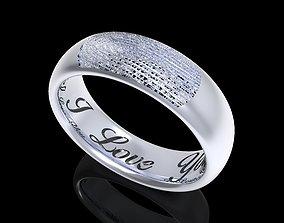 Fingerprint Men Ring With Inside Engraved Model- CC97-M