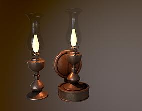 Old Wall Lantern 3D asset