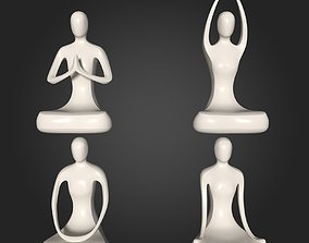 Abstract Meditation Figurine Pack 3D asset