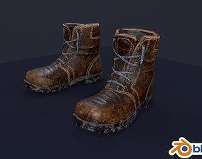 Dirty shoes 3D asset