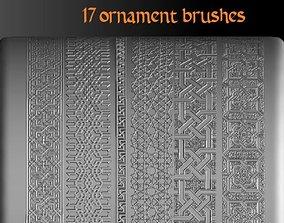 3D The Seljuks Ornament Zbrush 18 ZBP-brush