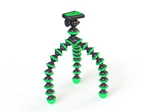 Flexible Camera Tripod Low-Poly 3D model