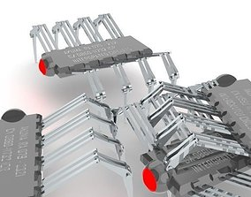 IC Chip Spider Concept Design 3D