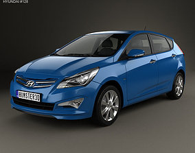 Hyundai Verna Accent 5-door hatchback 3D model