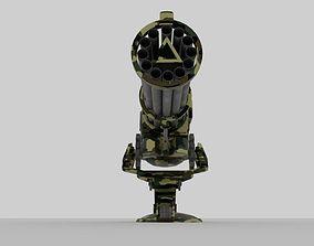 3D asset Mini Gun Turret