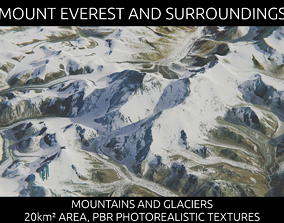 3D model low-poly Mount Everest