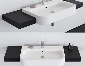 Washbasin Scarabeo Ceramiche Next 80D 3D model