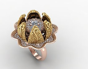 3D print model moving jewelry ring