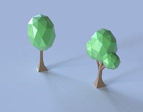 toon polygonal trees 3D print model