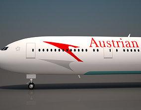 Autrian Airlines Boeing 777 300 ER sky 3D model