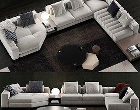 Minotti Freeman Duvet Sofa 3D model