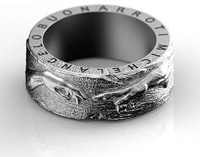 3D print model Ring Michelangelo Buonarroti