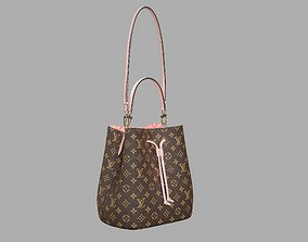 Louis Vuitton Neonoe MM Bag Monogram Rose Poudre Pink 3D