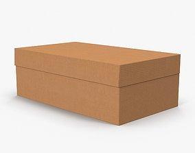 3D asset Cardboard Shoe Box Low-Poly