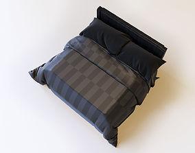 3D Black Bed