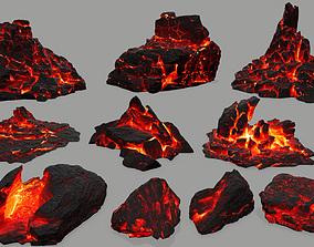 3D asset VR / AR ready terrain Rock set