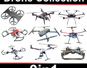3D Drone Collection Set 9in1