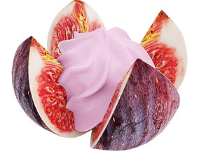 3D Fig flower with pink cream