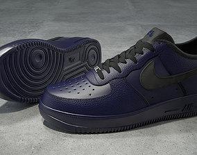 Nike Air Force 1 low binary blue 3D asset