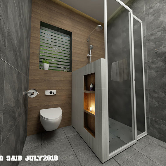 Cozy bathroom design