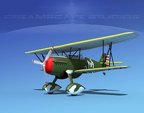 3D Curtiss P-6E Hawk V04