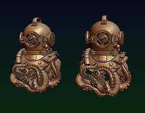 3D printable model Diving helmet with octopus