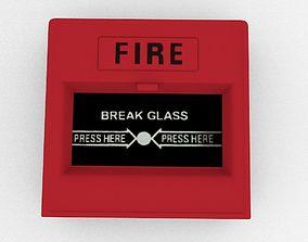 Emergency Alarm Button 3D model