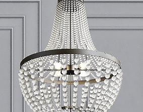6 Light Chandelier 3D