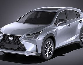 Lexus NX 2017 VRAY 3D model