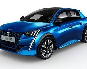 3D model Peugeot 2020 e-208