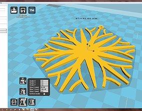 Snowflake 3D printable model christmas